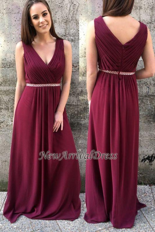 A-line Modern Zipper Straps Sleeveless Beads Prom Dress | Modern Prom Dress