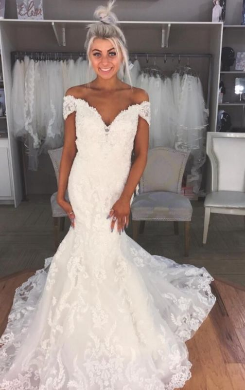 Gorgeous Mermaid Off The Shoulder Wedding Dresses | Modern Bridal Gowns for Weddings