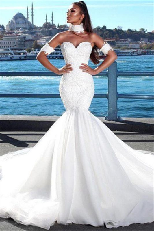 Sexy Mermaid Sweetheart Wedding Dresses 2020 Lace Open Back Bridal Gowns Newarrivaldress Com,Beach Cocktail Dress Wedding