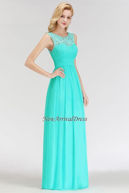 72f021c9c524 Elegant Long Sleeveless Lace Scoop Chiffon Bridesmaid Dress |  Newarrivaldress.com