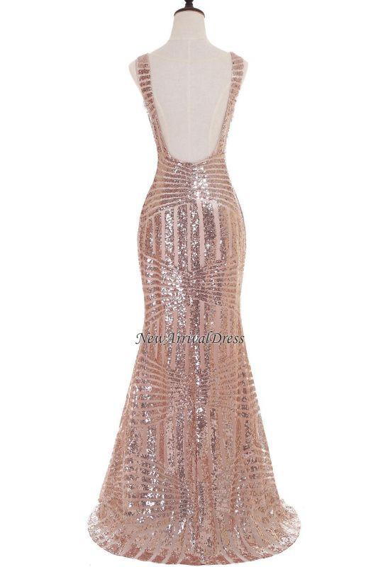 Newest Long Sequin Jewel Mermaid Sleeveless Prom Dress