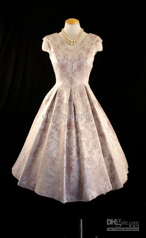 New Style Cusotm Made Embroidery A Line Satin Tea Length Mother of Brides Dresses TW06071