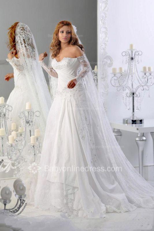 Sweetheart Long Sleeve Wedding Dresses