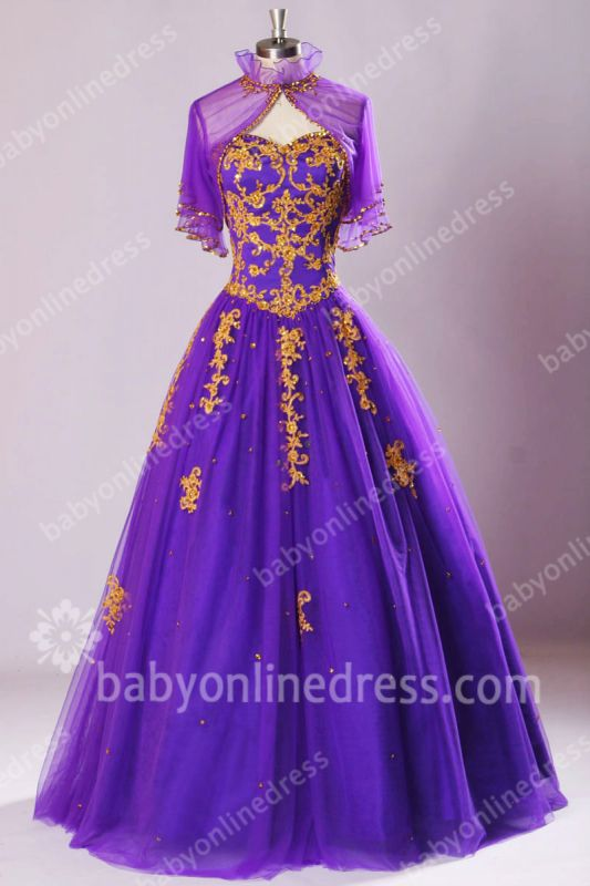 Royal Purple Glitter Prom Dresses