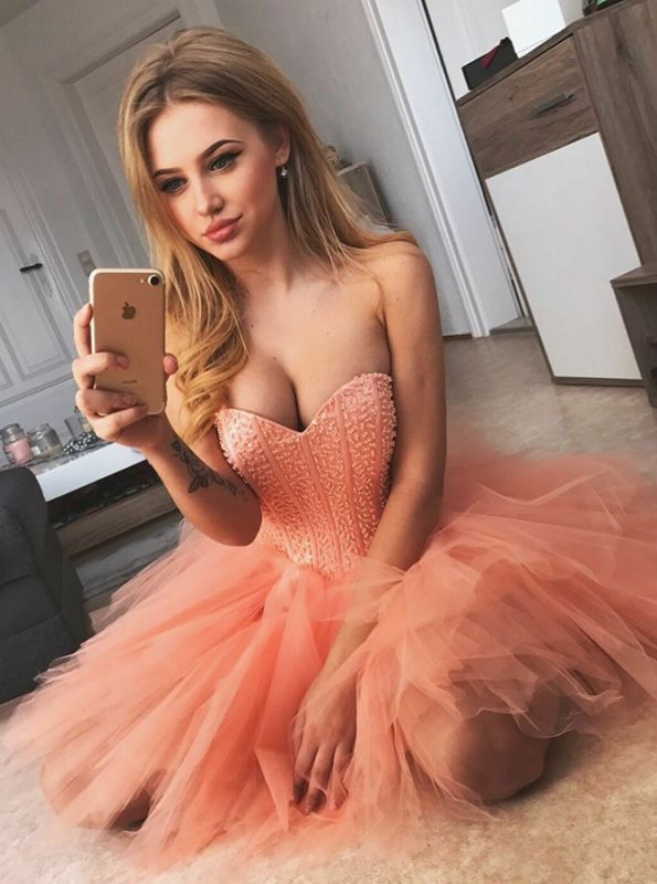 Chic Sexy Sleeveless Homecoming Dresses  Sweetheart Classic Cocktail Dresses