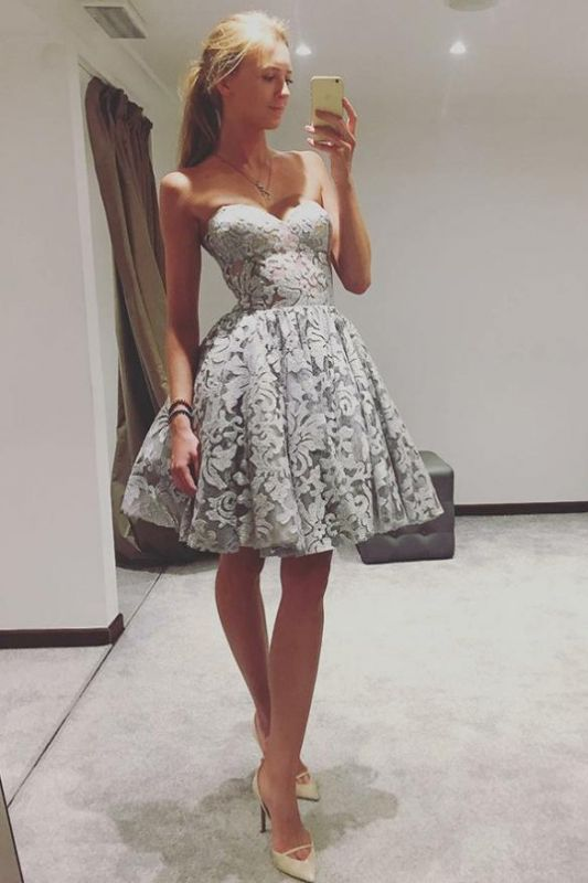 Elegant Sweetheart Homecoming Dresses  Classic Sexy Sleeveless Cocktail Dresses