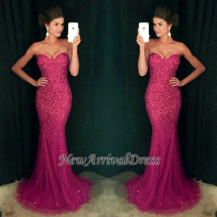 27ad2245945d Cheap Sweetheart Sequins Long Mermaid Sparkly Crystals Prom Dress [Item Code:  D153413447168069]