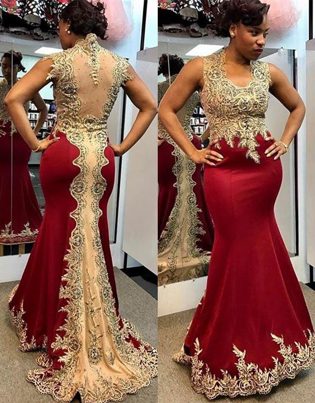 54d9ba27cb53a Glamorous Mermaid Long Sleeveless Sweep Train Prom Dress