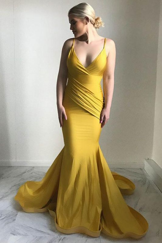 Mermaid Yellow Dress