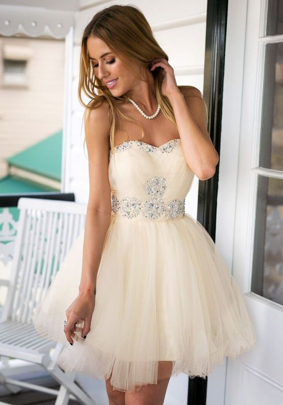 dbda6c30db3 Sweetheart Crystals Short Homecoming Dresses Elegant Graduation Dresses   Item Code  D153690540808017