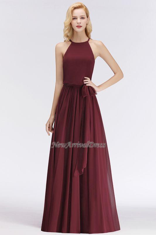 A Line Simple Brown Dress