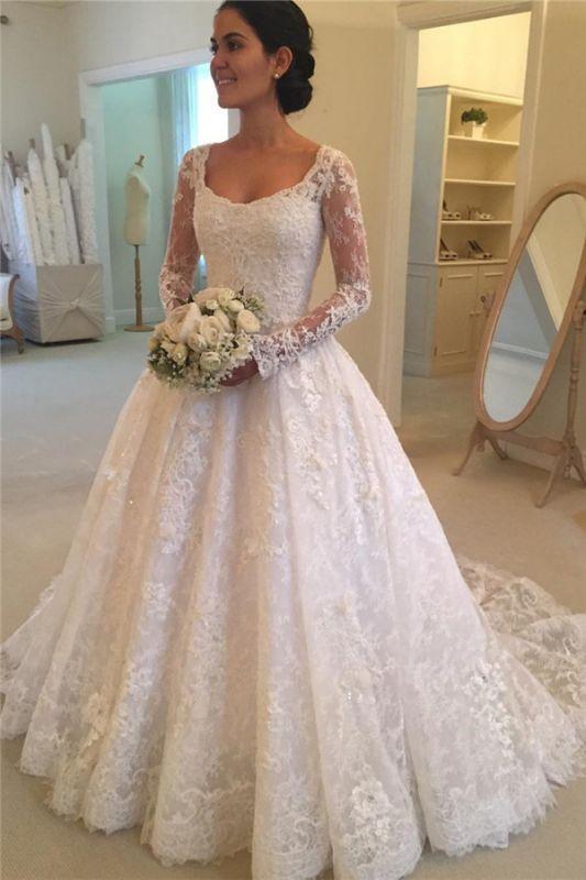 Long Sleeve Lace Elegant Wedding