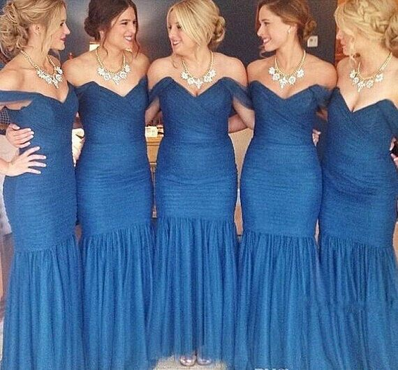 Turquoise Mermaid Bridesmaid Dresses
