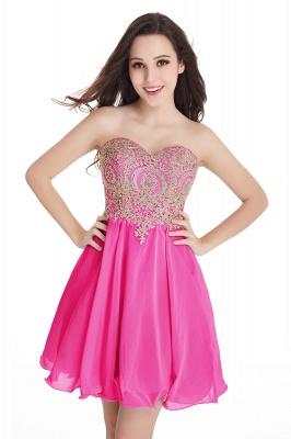 Appliques Short SweetheartMini Cheap Homecoming Dresses_3