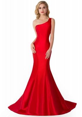 AILEEN   Mermaid One Shoulder Satin Evening Dress_1