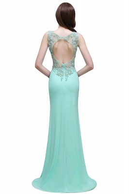 BARBARA | Sheath Straps Floor-Length Mint Green Prom Dresses With Pearls_3