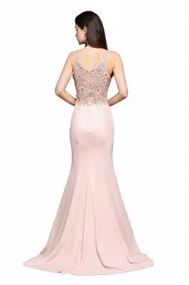 ALLYSON   Mermaid V-Neck Pearl Pink Prom Dresses with Beads_3