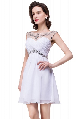AITANA | A-line Jewel Chiffon Party Dress With  Crystal_11