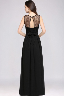 CHARLOTTE |A-line Floor-length Chiffon Sexy Black Prom Dress_8