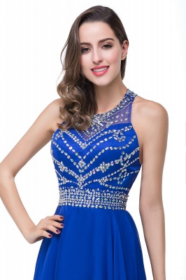 ELLA | A-line Crew Floor-length Sleeveless Tulle Prom Dresses with Crystal Beads_13