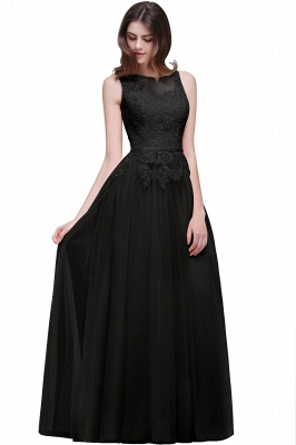 ATHENA | A-line Floor-Length Tulle Prom Dress With Lace_7