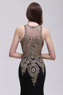 BROOKLYNN | Mermaid Black Prom Dresses with Lace Appliques_9