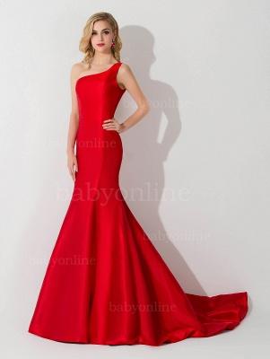 AILEEN   Mermaid One Shoulder Satin Evening Dress_7
