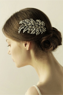 glamourous Alloy Imitation Pearls Special Occasion Combs-Barrettes Headpiece with Rhinestone_9