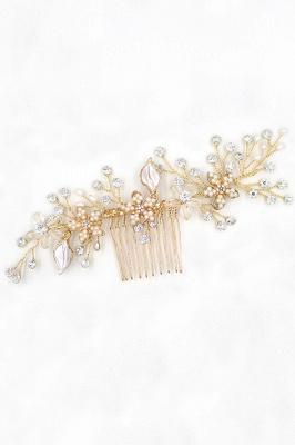 Beautiful Alloy&Rhinestone Wedding Combs-Barrettes Headpiece with Imitation Pearls_10