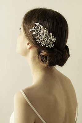 glamourous Alloy Imitation Pearls Special Occasion Combs-Barrettes Headpiece with Rhinestone_3