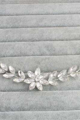 Flower Alloy&Rhinestone Special Occasion Hairpins Headpiece with Crystal_4