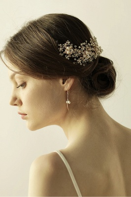 Luxury glamourous Alloy&Rhinestone Special Occasion &Wedding Headbands Headpiece with Imitation Pearls_7