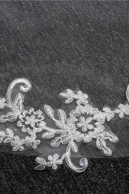 Elegant Tulle lace Applique Edge 3*1.5M Wedding Gloves_8