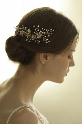 Beautiful Alloy&Rhinestone Wedding Combs-Barrettes Headpiece with Imitation Pearls_3