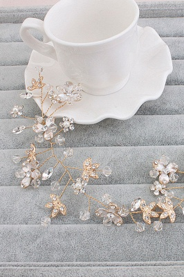 Glamourous Alloy Imitation Pearls Special Occasion&Party Hairpins Headpiece with Crystal Rhinestone_1