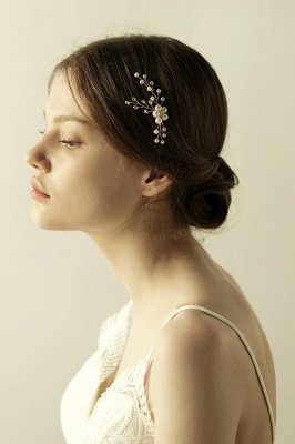 Cute Alloy Daily Wear Hairpins Headpiece with Imitation Pearls_5