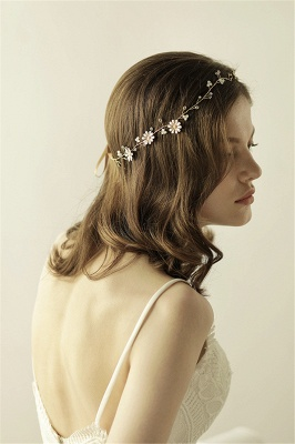 Floral  Alloy Party Headbands Headpiece with Rhinestone_6