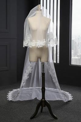 Elegant Tulle lace Applique Edge 3*1.5M Wedding Gloves_2