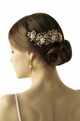Luxury glamourous Alloy&Rhinestone Special Occasion &Wedding Headbands Headpiece with Imitation Pearls_1