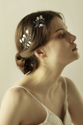 Beautiful Alloy Daily Wear Hairpins Headpiece with Imitation Pearls_4