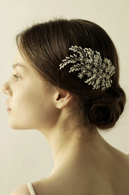 glamourous Alloy Imitation Pearls Special Occasion Combs-Barrettes Headpiece with Rhinestone_5
