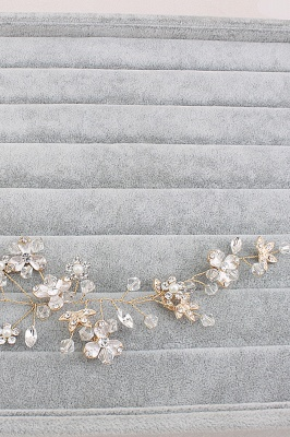 Glamourous Alloy Imitation Pearls Special Occasion&Party Hairpins Headpiece with Crystal Rhinestone_4