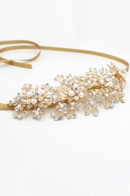Luxury glamourous Alloy&Rhinestone Special Occasion &Wedding Headbands Headpiece with Imitation Pearls_10