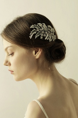 glamourous Alloy Imitation Pearls Special Occasion Combs-Barrettes Headpiece with Rhinestone_8