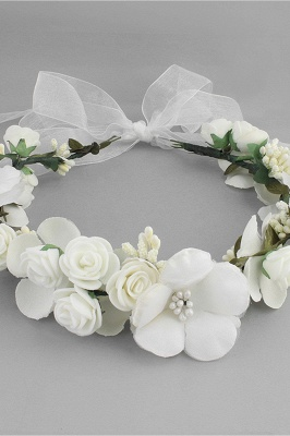 Flower Plastic Special Occasion Flower-Girl's-Headwear Headpiece with Imitation Pearls