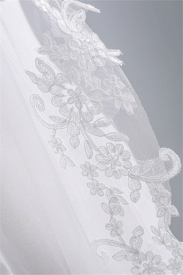Fashion Tulle Lace Lace Applique Edge 1.7*1.5M Wedding Gloves_5