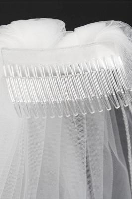 Cheap Tulle Cut Edge 1.5*1.5M Wedding Gloves_6