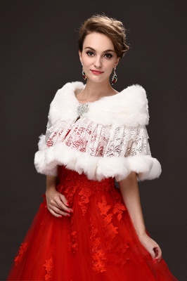 Fashion Tulle White Half-Sleeves Casual Bride Wedding Wraps with Crystal