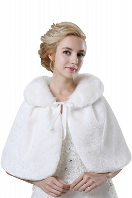 Elegant Warm Tulle White Half-Sleeves Casual Bride Wedding Wraps_1