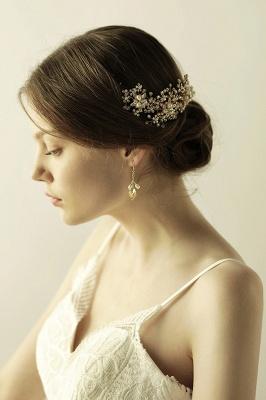 Luxury glamourous Alloy&Rhinestone Special Occasion &Wedding Headbands Headpiece with Imitation Pearls_4